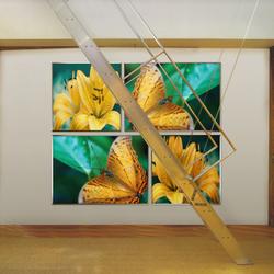 Ring Around The Bamboo   Sound absorbing wall art   tela-design