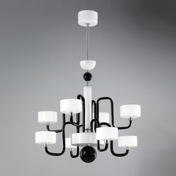 Guggenheim 8L | Ceiling suspended chandeliers | Panzeri