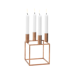 Kubus 4 Copper | Candlesticks / Candleholder | by Lassen