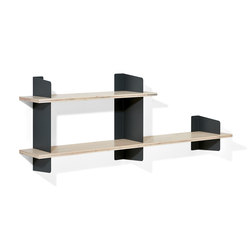 Atelier shelving | 1600 + 1000 mm | Office shelving systems | Lampert
