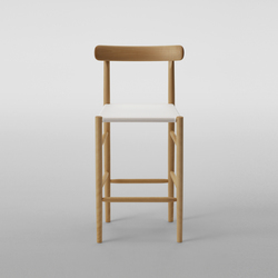 Lightwood Bar Stool Mid (Mesh Seat) | Bar stools | MARUNI