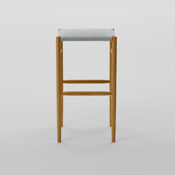 Lightwood Stool High (Cushioned) | Taburetes de bar | MARUNI