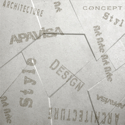 Anarchy white natural prism letters | Ceramic panels | Apavisa