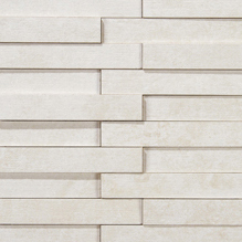 Evolution white striato mosaico brick | Ceramic mosaics | Apavisa