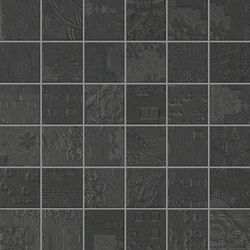 Rendering black natural mosaico decor | Ceramic mosaics | Apavisa
