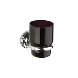 Vienna Tumbler holder with black glass tumbler | Toothbrush holders | Aquadomo