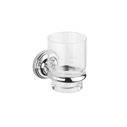 Vienna Tumbler holder with clear glass tumbler | Toothbrush holders | Aquadomo