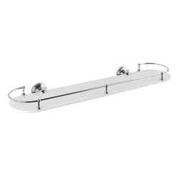 Vienna Wall shelf, white glass, 650 mm | Bath shelves | Aquadomo