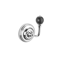 Vienna Single robe hook | black | Towel rails | Aquadomo