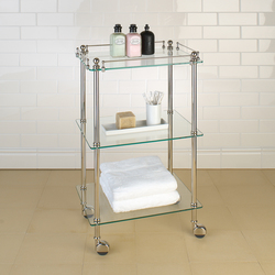 Tavolino | clear glass | Bath shelving | Aquadomo