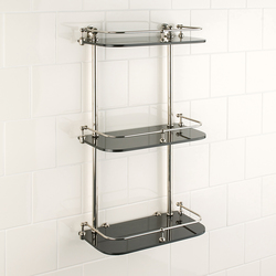 Wall shelf | clear glass | Bath shelving | Aquadomo