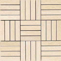 Oak beige natural mosaico hybrid | Ceramic mosaics | Apavisa