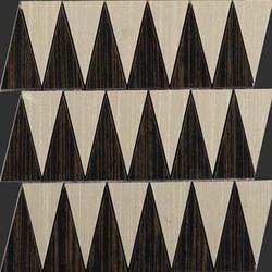 Zebrano rosso natural mosaico triangle | Ceramic mosaics | Apavisa