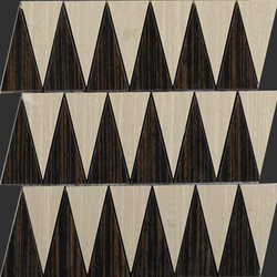 Zebrano rosso natural mosaico triangle | Mosaike | Apavisa