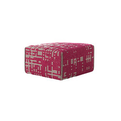 Canevas Pouf Square Abstract Pink 11 | Poufs / Polsterhocker | GAN