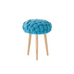 Knitted Stool Blue 2 | Poufs / Polsterhocker | GAN