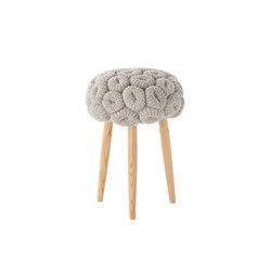 Knitted Stool Grey 1 | Poufs | GAN