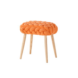 Knitted Stool Orange 3 | Ottomans | GAN
