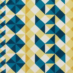 Mosaïek Kilim Rug Yellow 2 | Formatteppiche / Designerteppiche | GAN