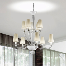 Prado 10L | Ceiling suspended chandeliers | Panzeri
