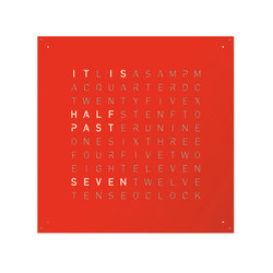 QLOCKTWO® LARGE Red Pepper | Clocks | BIEGERT&FUNK