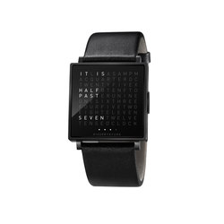 QLOCKTWO® W Black | Wrist watches | BIEGERT&FUNK