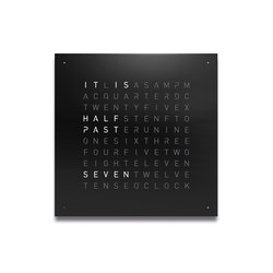 QLOCKTWO® CLASSIC – POWDER COATED Black Pepper | Clocks | BIEGERT&FUNK
