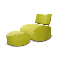 Apollo chair with pouf | Armchairs | Softline A/S