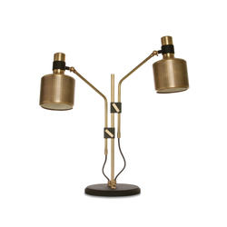 Riddle Table Lamp Black & Brass | Iluminación general | Bert Frank