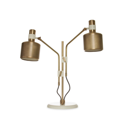 Riddle Table Lamp White & Brass | Iluminación general | Bert Frank