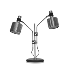Riddle Table Lamp Black & Chrome | Iluminación general | Bert Frank