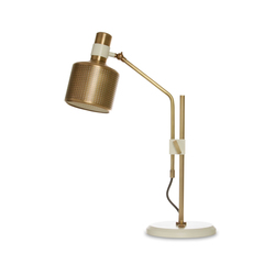 Riddle Table Lamp Single White & Brass | Iluminación general | Bert Frank