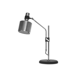 Riddle Table Lamp Single Black & Chrome | Iluminación general | Bert Frank