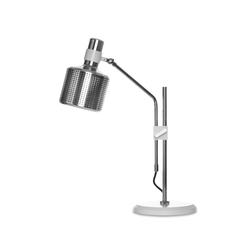 Riddle Table Lamp Single White & Chrome | Allgemeinbeleuchtung | Bert Frank