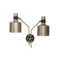 Riddle Wall light Black & Brass | General lighting | Bert Frank