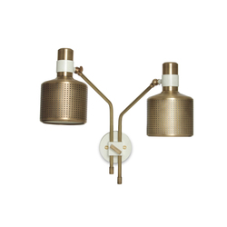 Riddle Wall light White & Brass | General lighting | Bert Frank