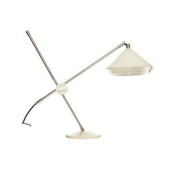 Shear Table Lamp White & Chrome | Illuminazione generale | Bert Frank