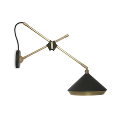 Shear Wall Light Black & Brass | General lighting | Bert Frank