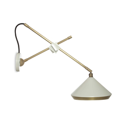 Shear Wall Light White & Brass | General lighting | Bert Frank