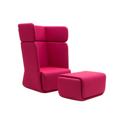Basket chair with footrest | Poltrone lounge | Softline A/S