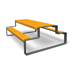 Outline | Benches with tables | miramondo