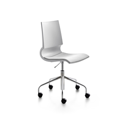 Ricciolina swivel base with wheels and gas lift with seat cushion | Arbeitsdrehstühle | Maxdesign