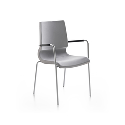 Ricciolina 4 legs with armrests upholstered | Multipurpose chairs | Maxdesign