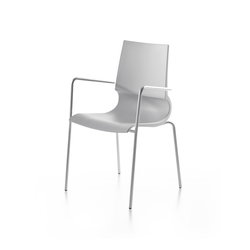 Ricciolina 4 legs with armrests polypropylene | Multipurpose chairs | Maxdesign