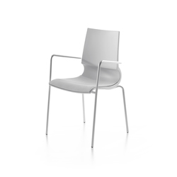 Ricciolina 4 legs with armrests/with seat cushion | Sillas multiusos | Maxdesign