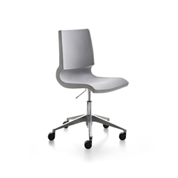 Ricciolina_swivel base with wheels and gas lift with pair of cushions for seat + back | Arbeitsdrehstühle | Maxdesign