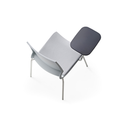 Ricciolina 4 legs polypropylene + writing tablet | Multipurpose chairs | Maxdesign