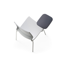 Ricciolina 4 legs with seat cushion + writing tablet | Multipurpose chairs | Maxdesign