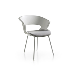 Zed 4 legs in polypropylene | Restaurant chairs | Maxdesign