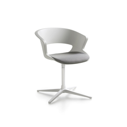 Zed swivel base in polypropylene with seat cushion (Z910) | Sillas de visita | Maxdesign